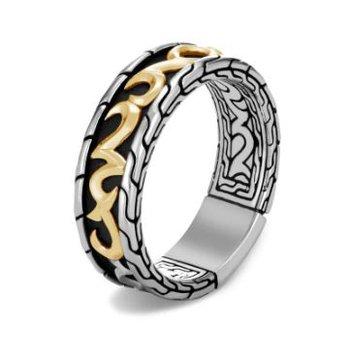 Classic Chain Keris Dagger Band Ring