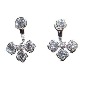 A.LINK TWO-PIECE DIAMOND EARRING JACKETS