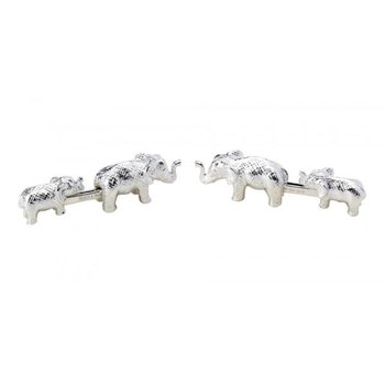 MOTHER/BABY ELEPHANT      SLV      CUFFLNK