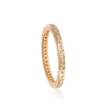 TODD REED ROSE GOLD DIAMOND ETERNITY BAND