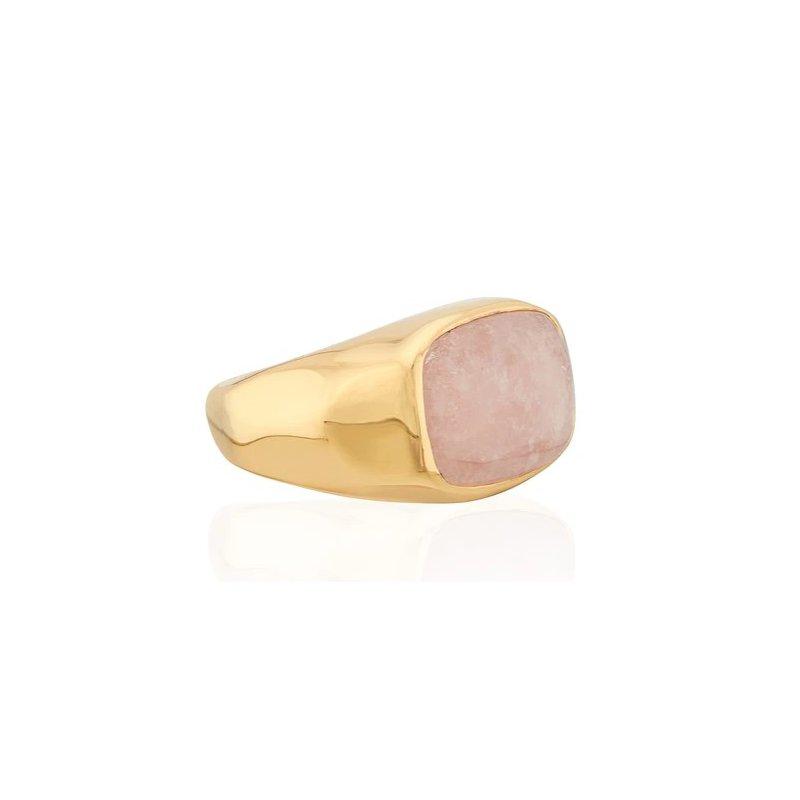 Anna Beck Morganite Cushion Signet Ring