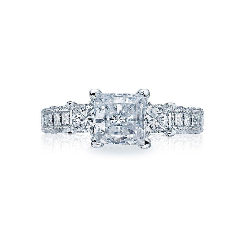 Tacori TACORI CLASSIC CRESCENT PLATINUM PRINCESS CUT DIAMOND ENGAGEMENT RING