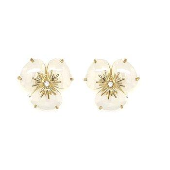 Vianna B.R.A.S.I.L. Pansy Opal Quartz Earrings