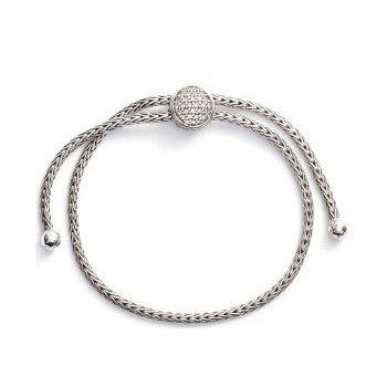 Classic Chain Pull Through Bracelet with Diamonds