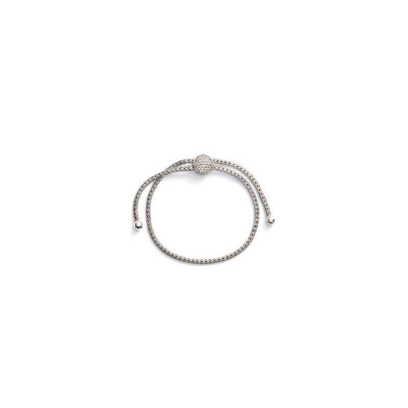 JOHN HARDY Classic Chain Pull Through Bracelet with Diamonds