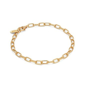 Elongated Chain Bracelet - Gold