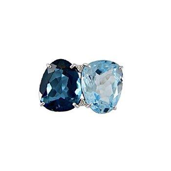 Vianna B.R.A.S.I.L. Blue Topaz Ring