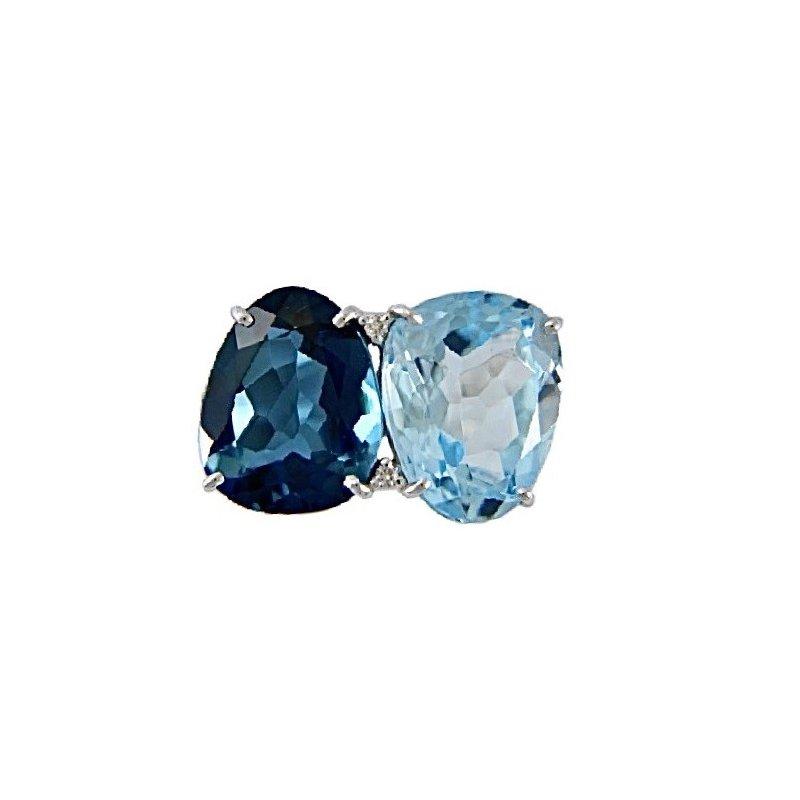 Vianna Vianna B.R.A.S.I.L. Blue Topaz Ring