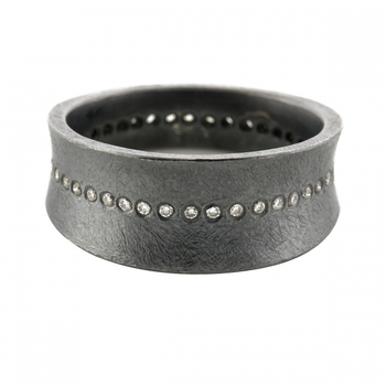 TODD REED BLACKEND SILVER DIAMOND ETERNITY BAND