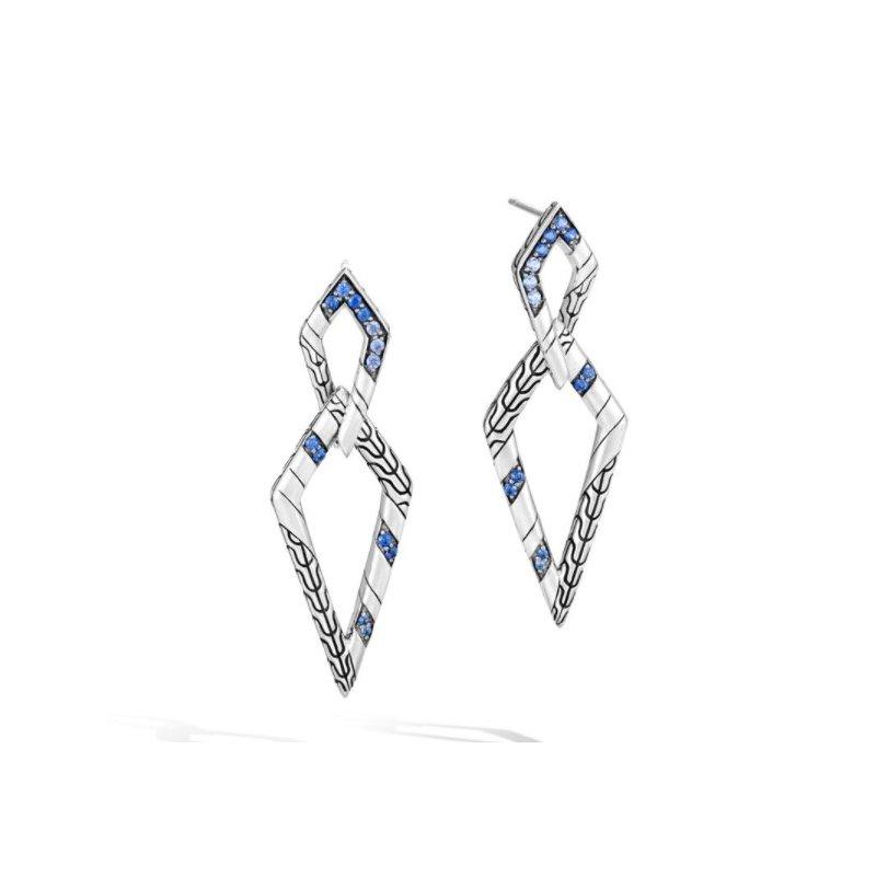 JOHN HARDY Lahar Double Marquise Drop Earrings