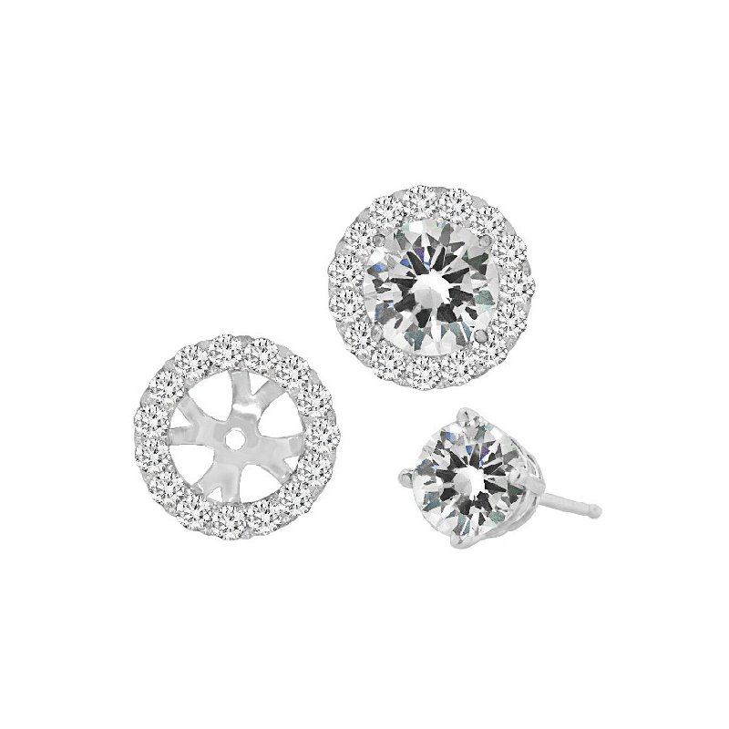 Spark Creations WHITE GOLD DIAMOND EARRING JACKETS