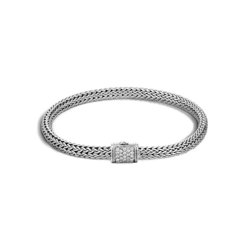 JOHN HARDY Classic Chain 5.5MM Pavé Icon Bracelet