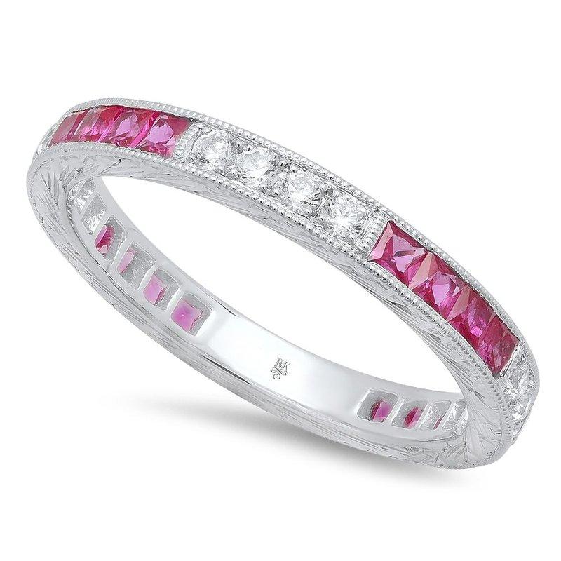 Beverley K RUBY AND DIAMOND RING