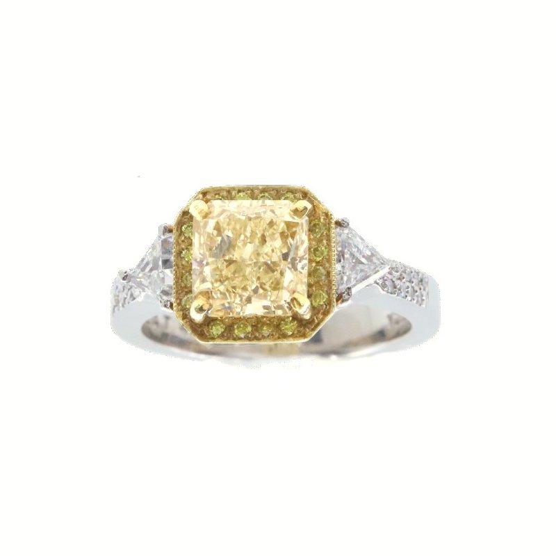 Mazzarese Couture YELLOW AND WHITE DIAMOND RING