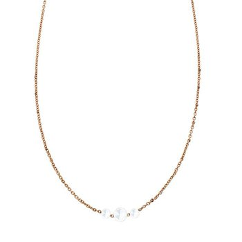 Sethi Couture Cien 3 Stone Rose Cut Diamond Necklace