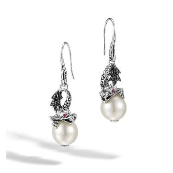 Legends Naga Drop Earring with Pearl