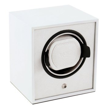 LACQUERED CUB WATCH WINDER - WHITE