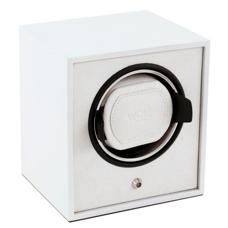 WOLF LACQUERED CUB WATCH WINDER - WHITE