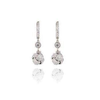 PAVE TWIST KNOT DIAMOND EARRINGS