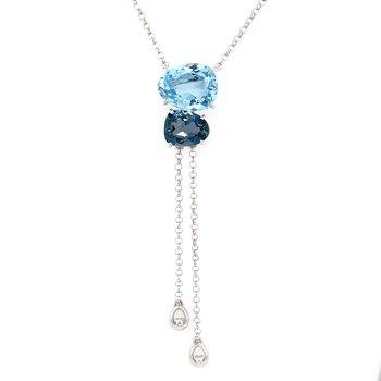 Vianna B.R.A.S.I.L. London Blue Topaz Necklace