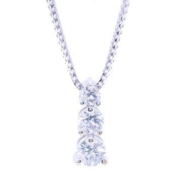 3-STONE DIAMOND NECKLACE
