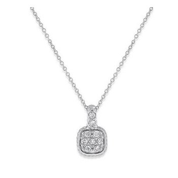 DIAMOND CUSHION NECKLACE
