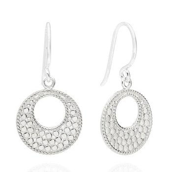 ANNA BECK CLASSIC OPEN CIRCLE EARRINGS - SILVER