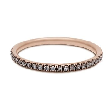 ROSE GOLD CHAMPAGNE DIAMOND ETERNITY BAND