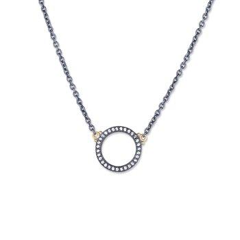 LIKA BEHAR DIAMOND INFINITY CIRCLE NECKLACE
