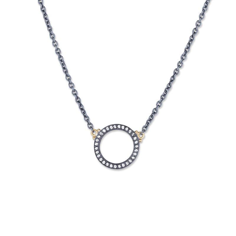 Lika Behar LIKA BEHAR DIAMOND INFINITY CIRCLE NECKLACE