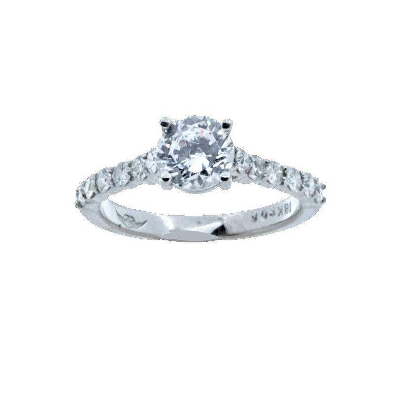 MAZZARESE Bridal CLASSIC DIAMOND SOLITAIRE ENGAGEMENT RING