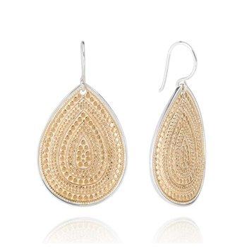 Classic Large Teardrop Earrings - Gold