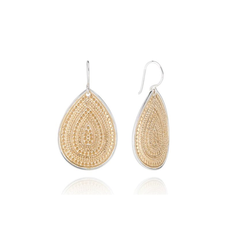 Anna Beck Classic Large Teardrop Earrings - Gold
