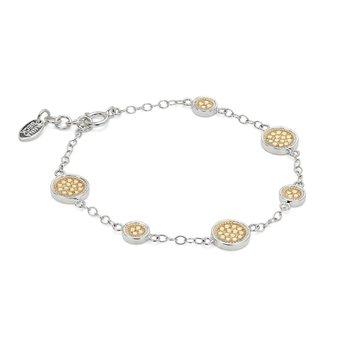 Classic Station Bracelet - Gold & Silver