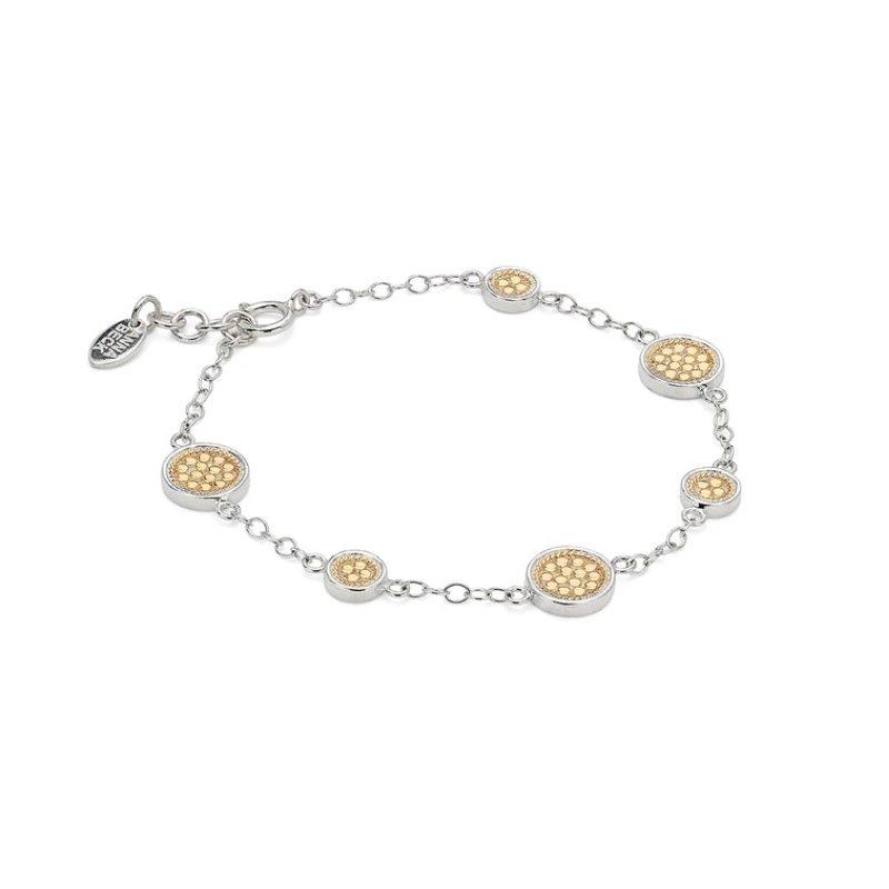 Anna Beck Classic Station Bracelet - Gold & Silver
