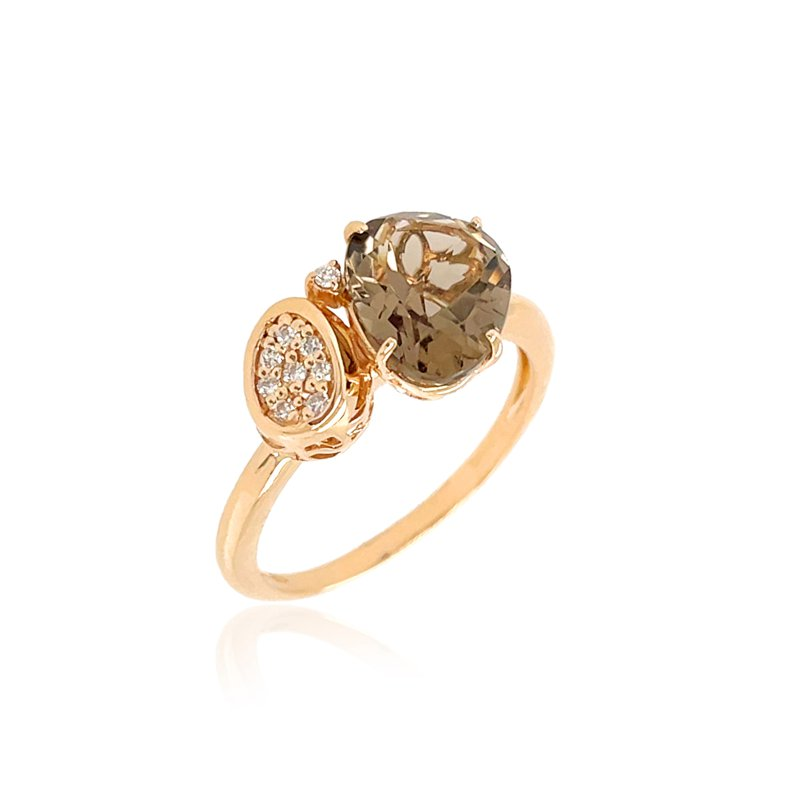 Vianna Vianna B.R.A.S.I.L. Smoky Quartz and Diamond Ring