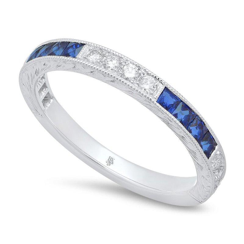 Beverley K SAPPHIRE AND DIAMOND ETERNITY RING