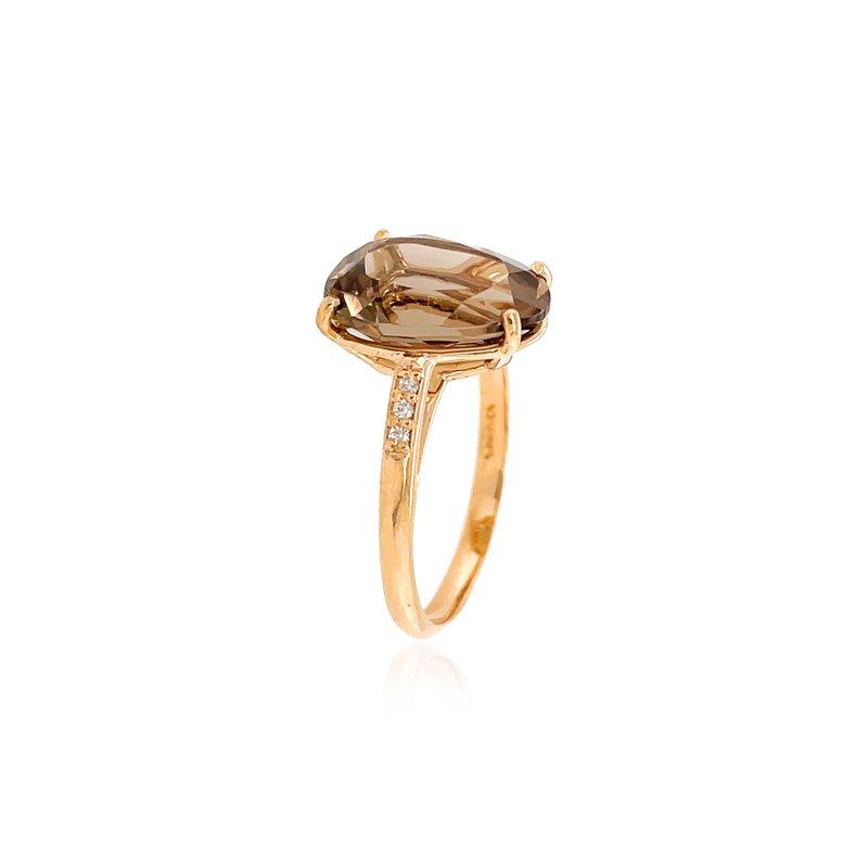 Vianna Brazil Smokey Quartz and Diamond Ring