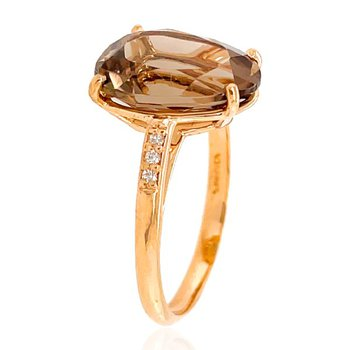 Vianna B.R.A.S.I.L. Smokey Quartz and Diamond Ring
