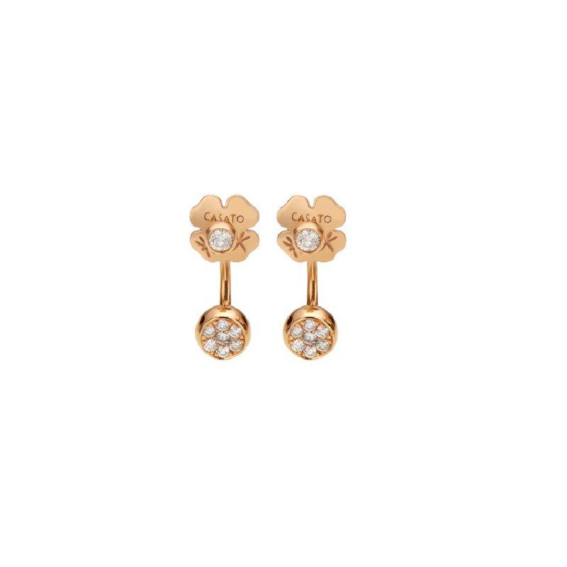 Casato 18K rose gold diamond earrings