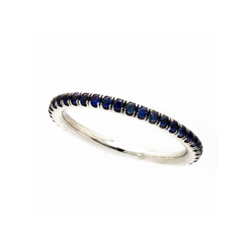 MAZZARESE Couture BLUE SAPPHIRE ETERNITY RING