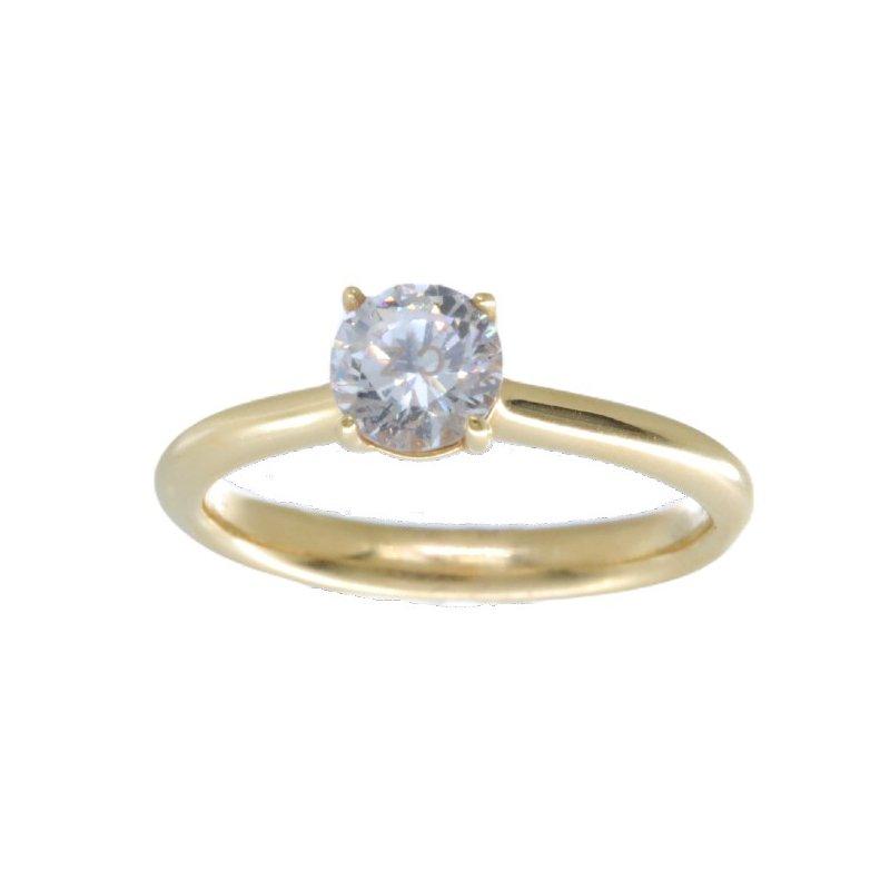 Memoire YELLOW GOLD DIAMOND SOLITAIRE ENGAGEMENT RING