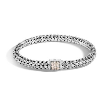 Classic Chain Bracelet with Champagne Diamonds