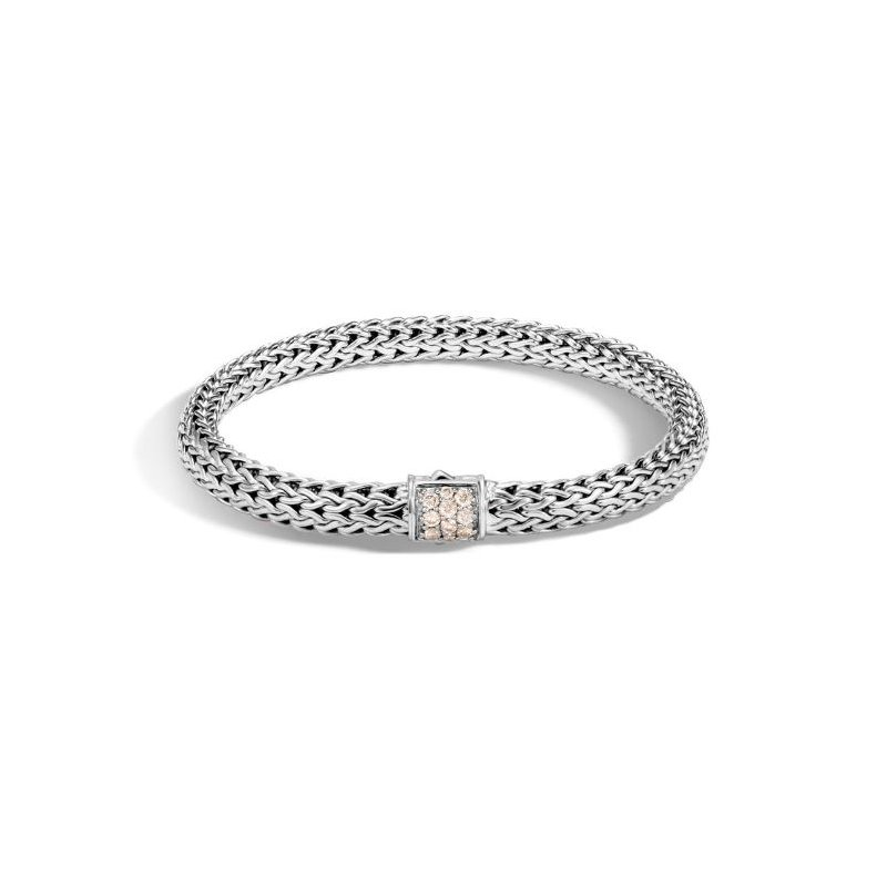 JOHN HARDY Classic Chain Bracelet with Champagne Diamonds