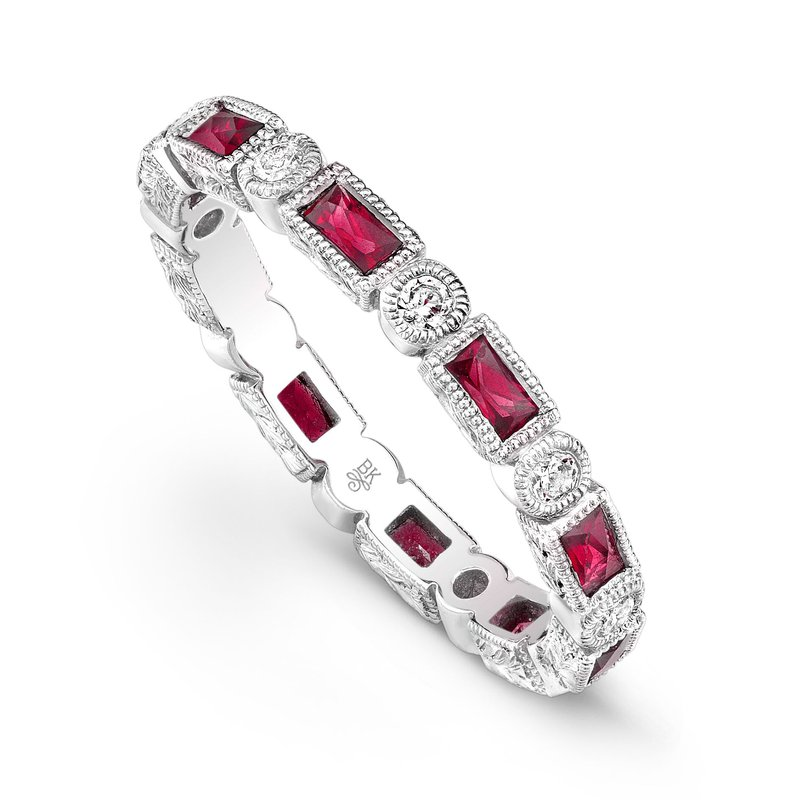Beverley K WHITE GOLD DIAMOND AND RUBY RING