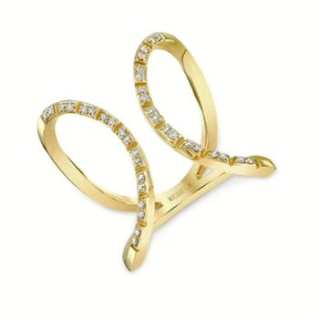 MICHAEL M DOUBLE OPEN CIRCLE ETERNITY RING