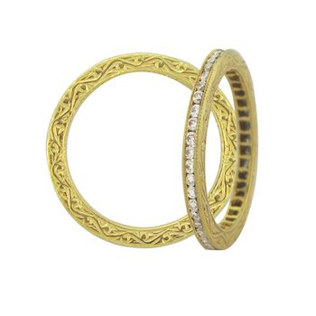 Sethi Couture Channel White Diamond Band
