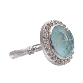 ARMENTA NEW WORLD TURQUOISE DOUBLET RING