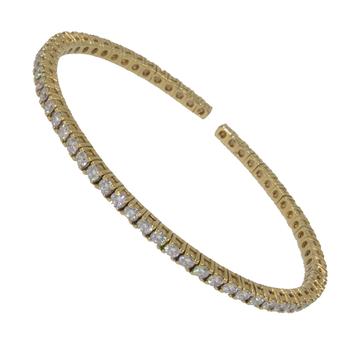 A.LINK DIAMOND FLEX CUFF BRACELET