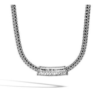 Classic Chain Hammered Pendant